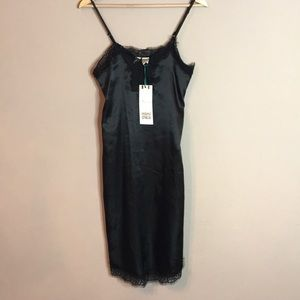 Silk black dress- Never worn with tag
